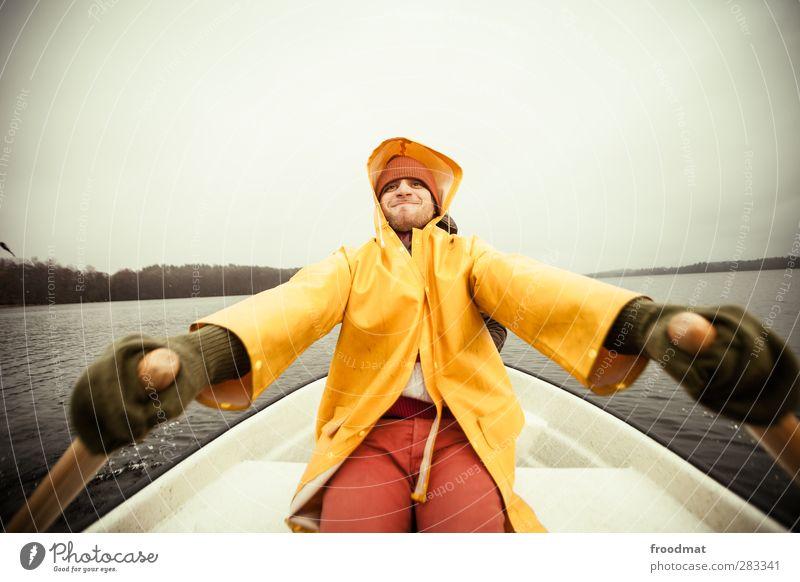 pull Freizeit & Hobby Angeln Ferien & Urlaub & Reisen Tourismus Ausflug Abenteuer Mensch maskulin Junger Mann Jugendliche Erwachsene 1 Herbst Winter
