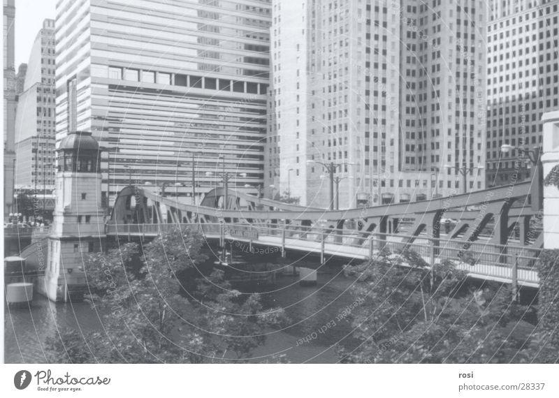 the city of Chicago Hochhaus Brücke Chicago Nordamerika