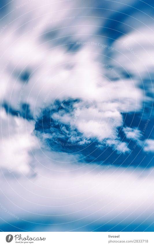 defokussierte Wolken über blauem Himmel Glück Natur Landschaft Frühling Klima Wetter Schwarm genießen authentisch fantastisch Neugier niedlich weiß Gefühle