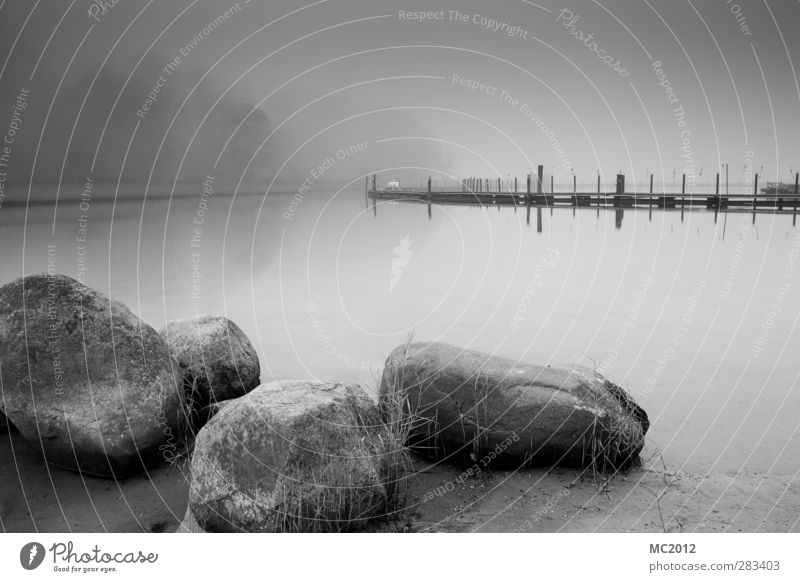 Stones Natur Wasser weiß Meer Landschaft schwarz Ferne Küste grau Sand Stein Denken Nebel beobachten Hafen Ostsee