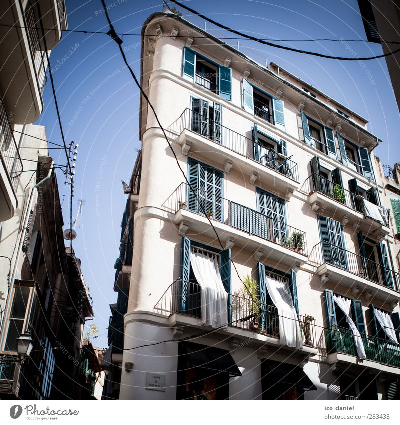 Palma alt Ferien & Urlaub & Reisen Stadt Haus Fenster Wohnung Fassade Tourismus Ausflug Häusliches Leben Abenteuer Balkon Spanien Stadtzentrum Hauptstadt