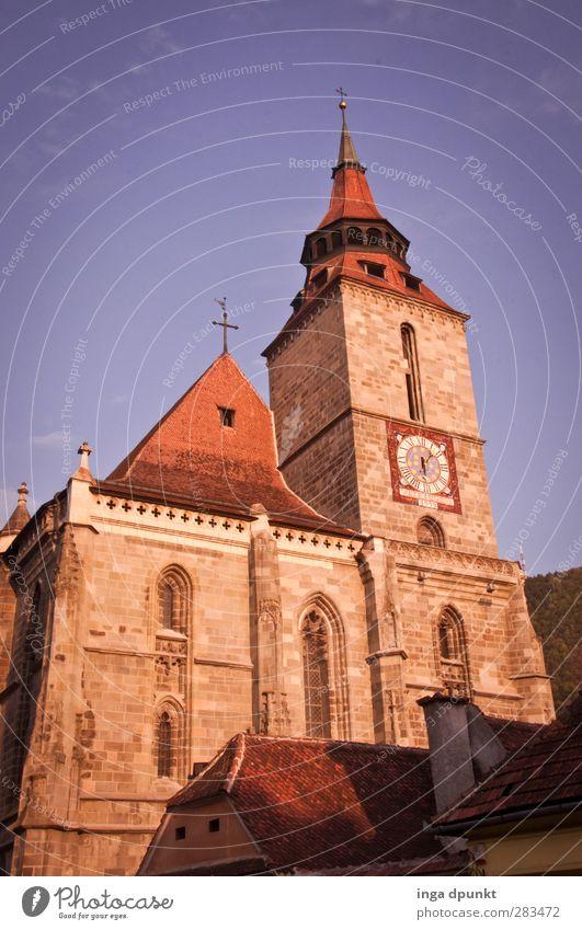 zu Besuch alt dunkel Architektur Religion & Glaube Gebäude Stein glänzend Kirche Europa Romantik Schutz Bauwerk Vertrauen Geborgenheit Christentum Treue
