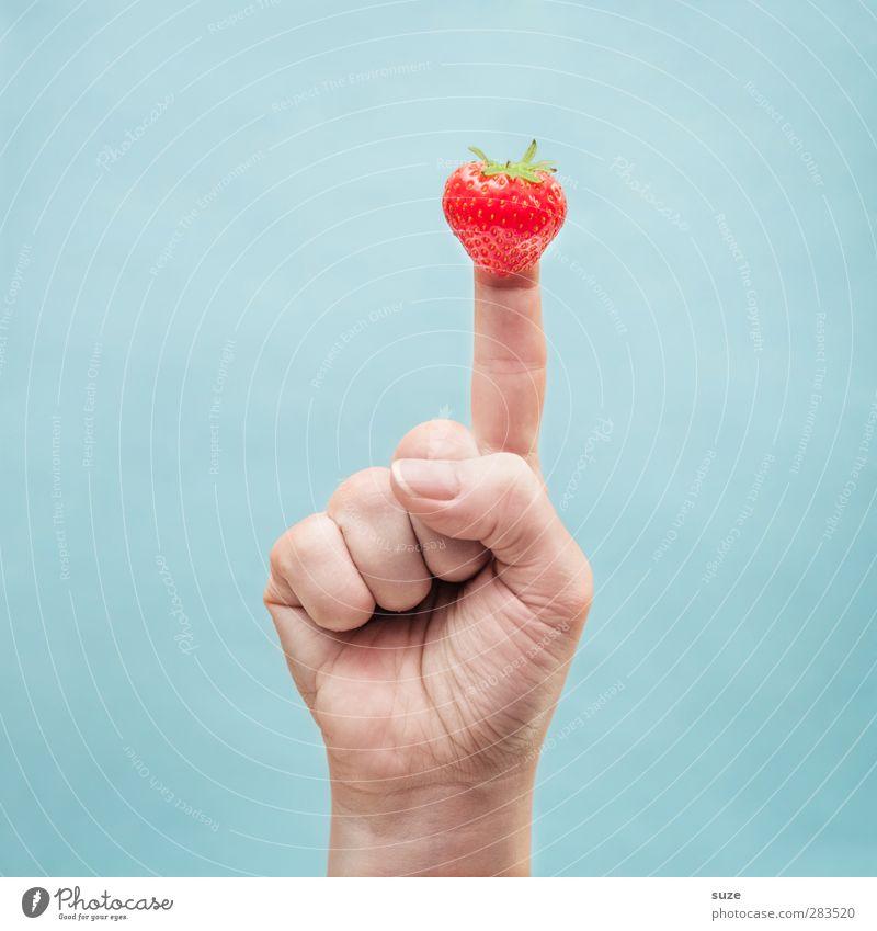 Starberry Hand lustig hell Frucht Arme Lebensmittel Haut Finger Kommunizieren süß Coolness einfach Zeichen Kreativität Idee Europäer