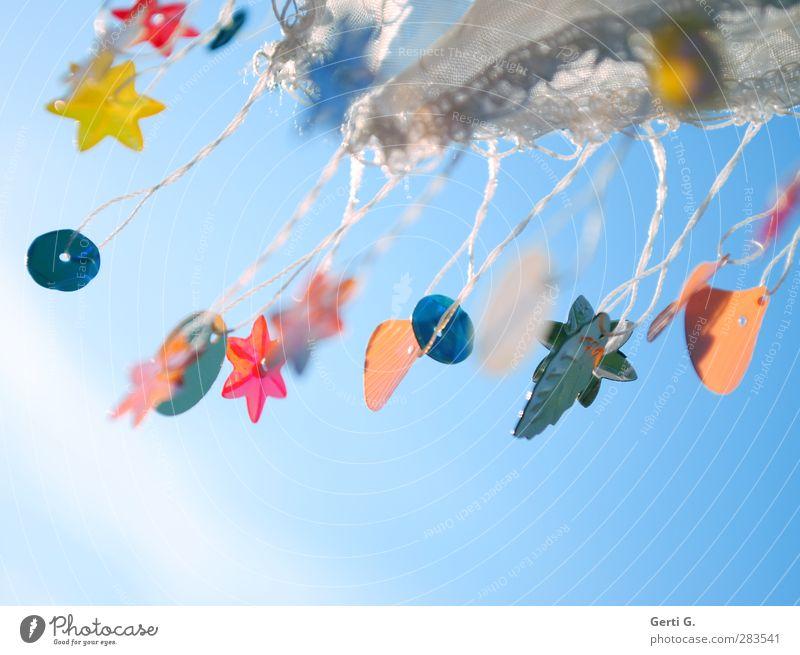 blowy Dekoration & Verzierung Kitsch Krimskrams Zeichen Bewegung fliegen hängen einzigartig viele blau mehrfarbig Gefühle Stimmung Fröhlichkeit Zufriedenheit