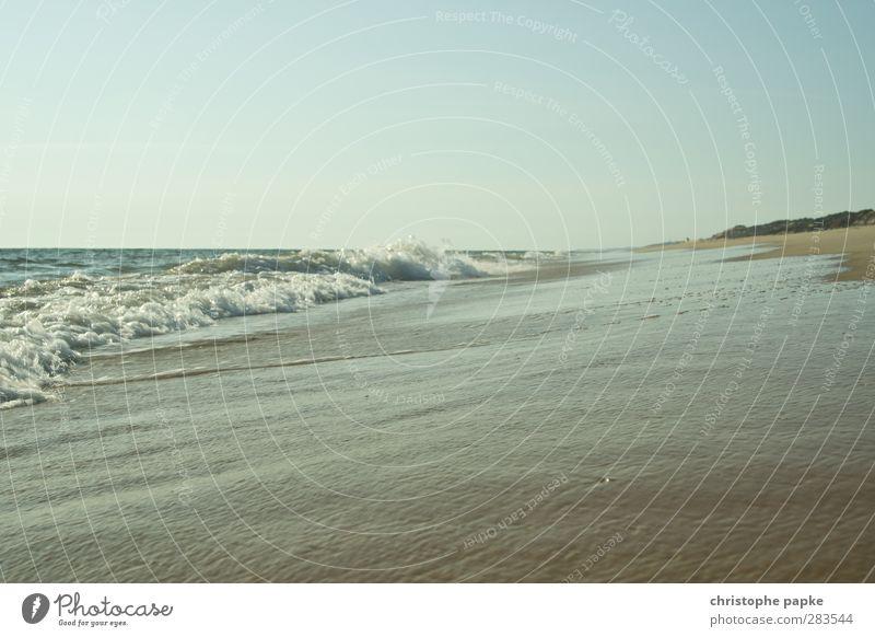 Einfach Meer Ferien & Urlaub & Reisen Strand Küste Wellen Sommerurlaub Wolkenloser Himmel Atlantik