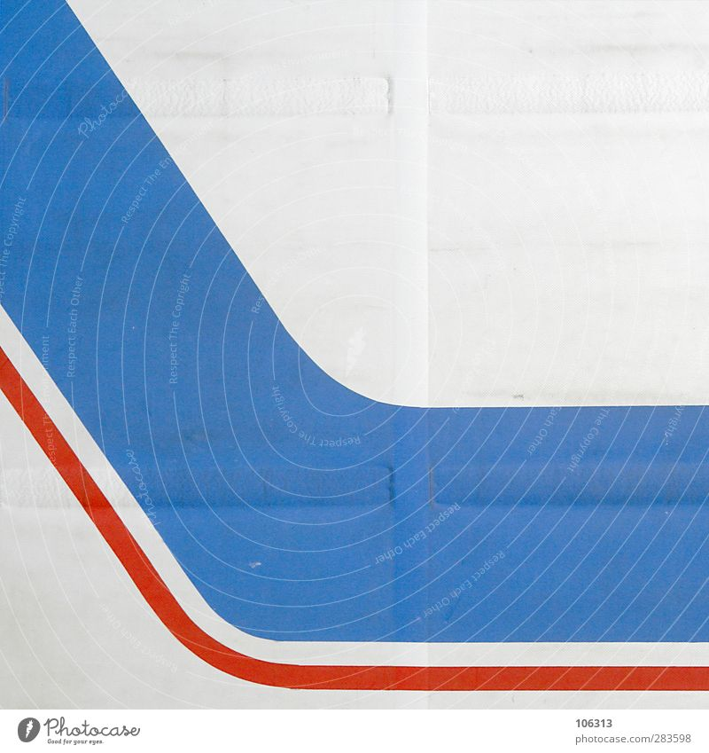 Shwing Zeichen Schilder & Markierungen Leben Linie graphisch Schwung Dynamik rot blau Farbfoto