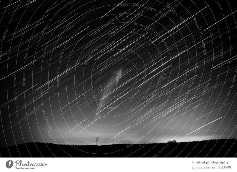 50 Minutes of Startrails Umwelt Natur Landschaft Himmel Wolkenloser Himmel Nachthimmel Stern Horizont Wetter beobachten glänzend leuchten Blick Astrofotografie