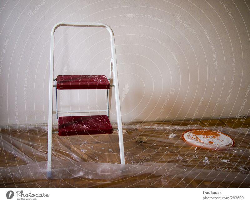 Los geht es Wohnung Renovieren Umzug (Wohnungswechsel) einrichten Leiter Farbstoff Anstreicher Arbeit & Erwerbstätigkeit Häusliches Leben streichen Abdeckung