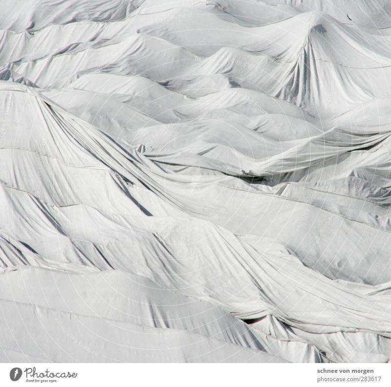 """Eis schmilzt. Umwelt Natur Landschaft Wärme Alpen Gipfel Gletscher Kunststoff Zeichen Linie Knoten Abenteuer """"Berg Schweiz Schnee Schutz Tuch Zerstörung Stoff"""