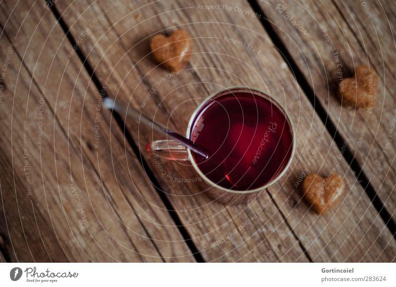 Wärm dich auf Weihnachten & Advent Wärme Lebensmittel Herz Getränk süß heiß Tee Süßwaren Tasse Foodfotografie Zucker Löffel Holztisch Glühwein Kaffeetrinken