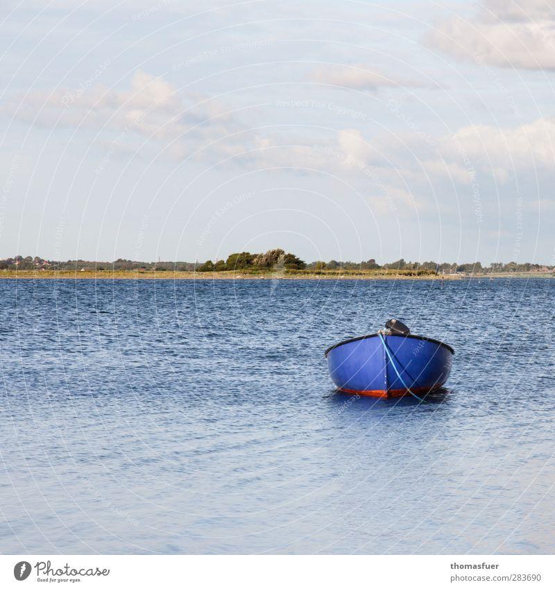 dänisch blau Angeln Sommer Sommerurlaub Strand Meer Insel Wellen Natur Landschaft Erde Luft Wasser Himmel Wolken Sonne Schönes Wetter Wind Küste Seeufer Bucht