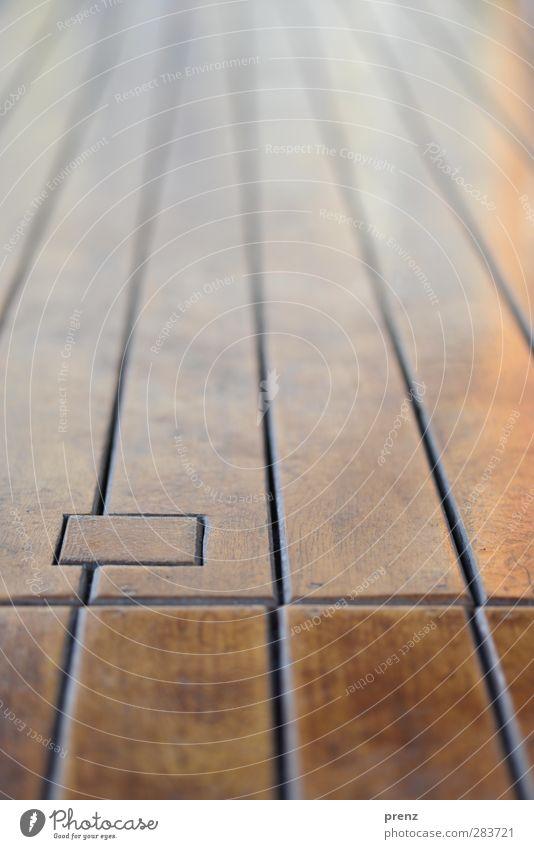 auf dem Holzweg Linie braun Holzbrett Holzfußboden Dielenboden Perspektive Farbfoto Außenaufnahme Strukturen & Formen Menschenleer Textfreiraum oben Tag