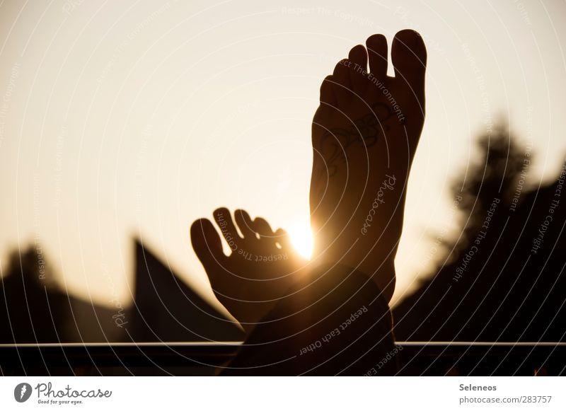 kennst du das, wenn harmonisch Wohlgefühl Zufriedenheit Erholung ruhig Ferien & Urlaub & Reisen Freiheit Sommer Sommerurlaub Sonnenbad Mensch Fuß 1 Umwelt Natur