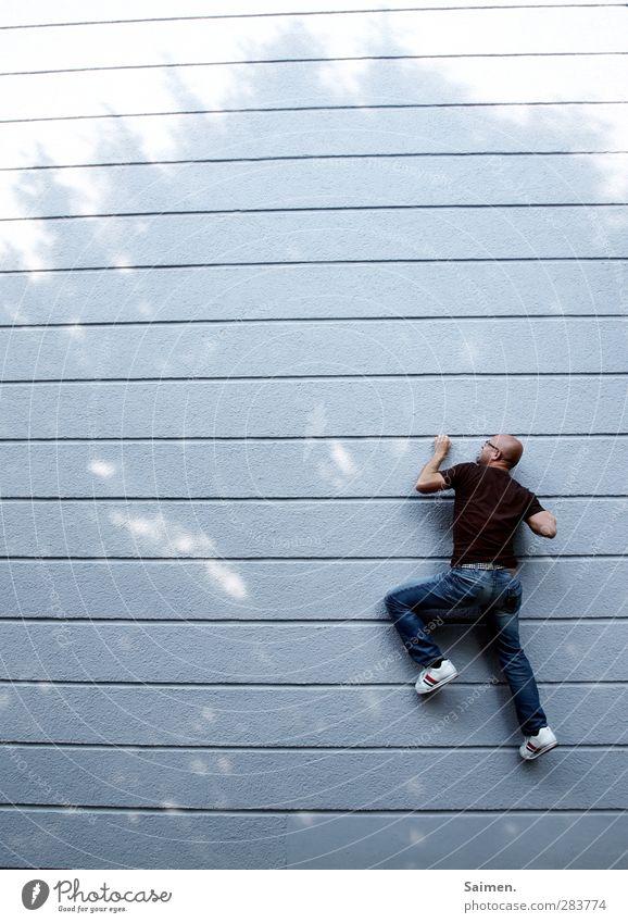 cityclimber III Mensch Mann Jugendliche Stadt Erwachsene Wand Sport Bewegung Mauer 18-30 Jahre Körper außergewöhnlich Kraft Fassade maskulin Abenteuer