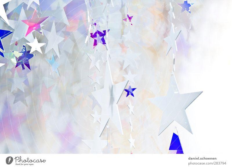 Sternchen blau Weihnachten & Advent weiß hell Dekoration & Verzierung Stern (Symbol) silber