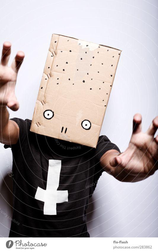 KARTOON - PETTER Karneval Halloween Bildung Student Punk Grufti Teufel Anarchie maskulin Junger Mann Jugendliche Erwachsene Bruder 1 Mensch 13-18 Jahre Kind