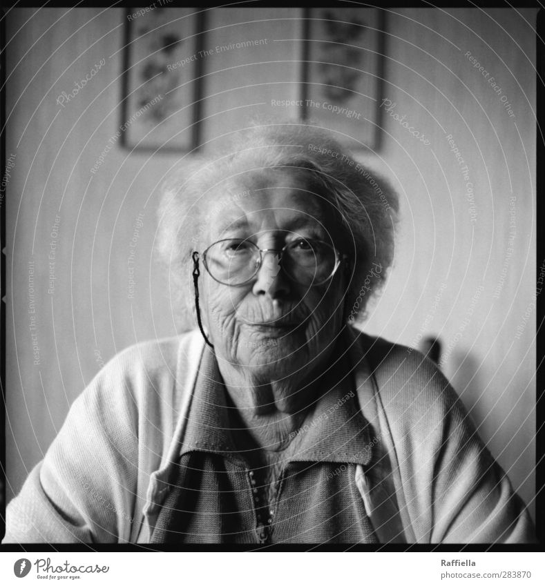 Gertrud. Mensch Frau alt Gesicht Auge feminin Senior Haare & Frisuren Kopf Haut sitzen Mund Nase beobachten Brille 60 und älter