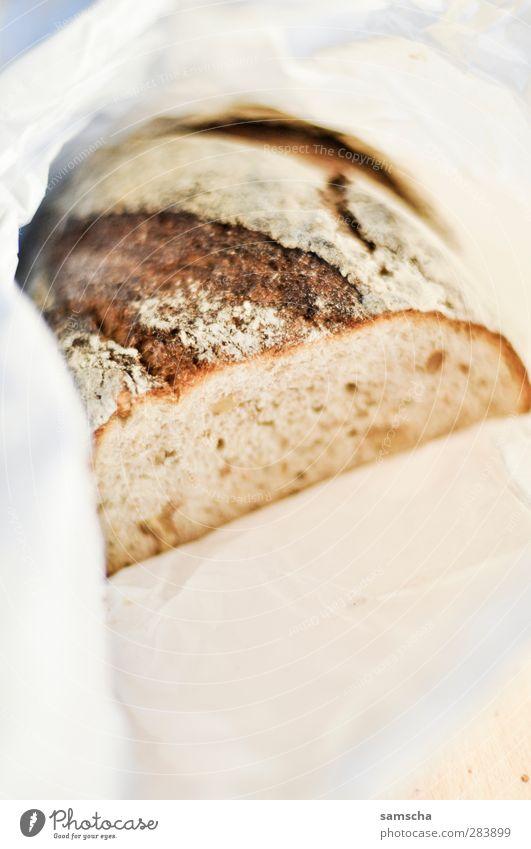 frisches Brot Essen Lebensmittel frisch Ernährung Papier gut Kochen & Garen & Backen Küche lecker Frühstück Brot Duft geschnitten Herd & Backofen packen Büffet