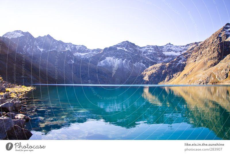 hach..... Natur blau Erholung Einsamkeit Landschaft ruhig Berge u. Gebirge Umwelt Herbst Schnee See Felsen Eis Ausflug Schönes Wetter Urelemente
