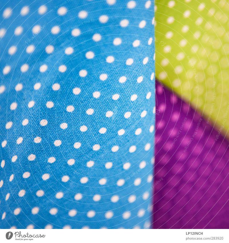 °Oo°.:0. blau schön gelb feminin Innenarchitektur Stil Mode Freizeit & Hobby Design Fröhlichkeit Bekleidung rund retro Stoff Freundlichkeit Punkt