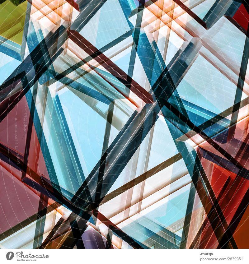 Lineup Farbe Architektur Stil außergewöhnlich Design Linie modern elegant verrückt Perspektive Zukunft einzigartig Coolness trendy Doppelbelichtung