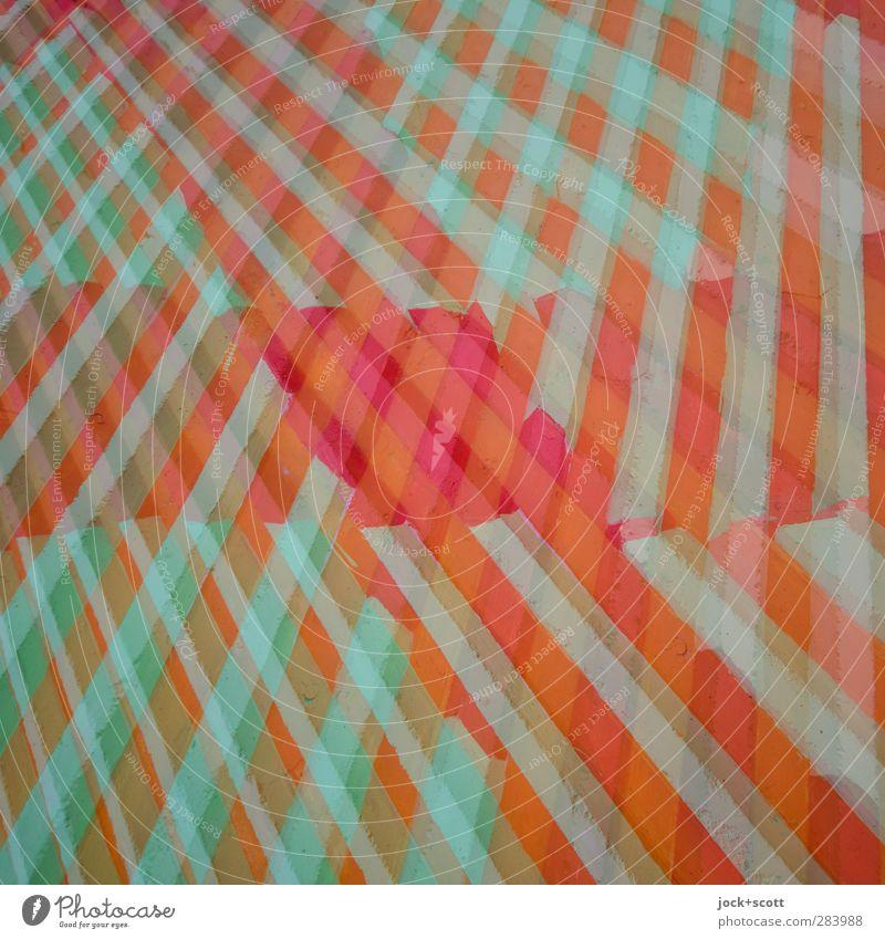 Kuddelmuddel Stil Design Grafik u. Illustration Mauer Wand Dekoration & Verzierung Beton Linie Streifen ästhetisch fest trendy einzigartig verrückt