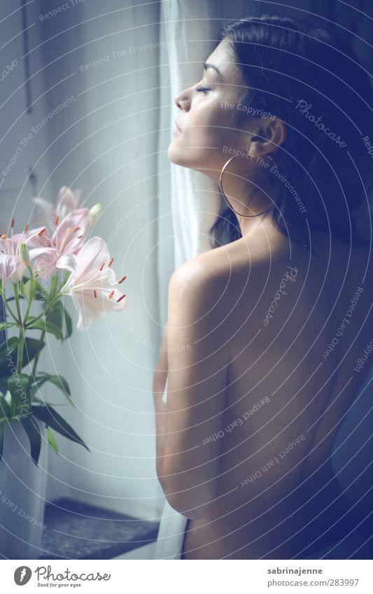 Vitamin D Mensch Frau Jugendliche schön ruhig Erholung Erwachsene Junge Frau feminin Gefühle Glück 18-30 Jahre Gesundheit Körper Zufriedenheit Romantik