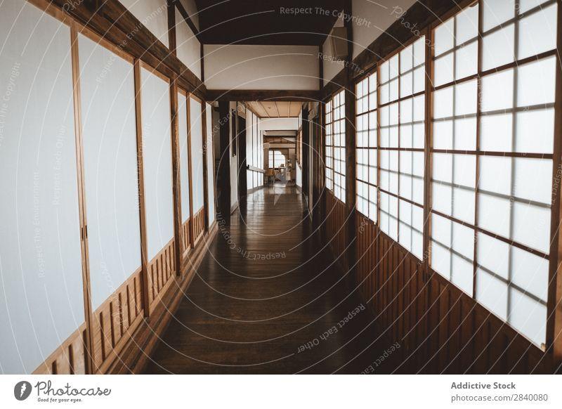 Flur im asiatischen Haus Innenarchitektur Tradition Gang heimwärts Kultur Asien Raum Holz Orientalisch Japaner minimalistisch Design Dekor Architektur Stil