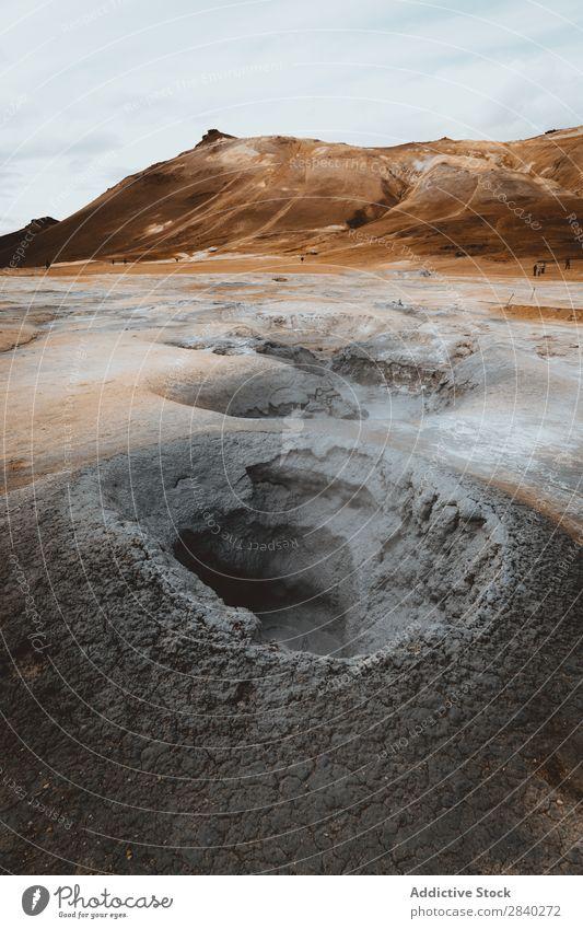 Namaskard-Bereich, Island schlecht kochen & garen Kontrast Vulkankrater gefährlich dramatisch Europa Feld Fumarole Gas Geologie Geothermik Boden Golfloch