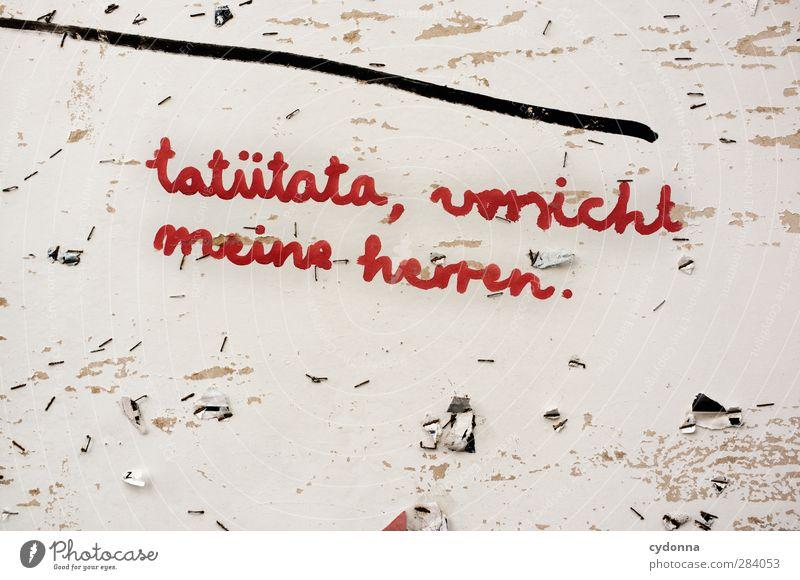 Es brennt rot Graffiti Wand Leben Freiheit Mauer Linie Schriftzeichen Stadtleben Kommunizieren bedrohlich einzigartig Kreativität Neugier Idee geheimnisvoll
