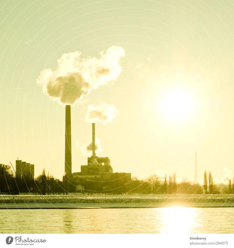 supergau Stadt Sonne Architektur Gebäude hell Energiewirtschaft Zukunft Technik & Technologie Industrie Bauwerk Rauch Wissenschaften Sonnenenergie Abgas