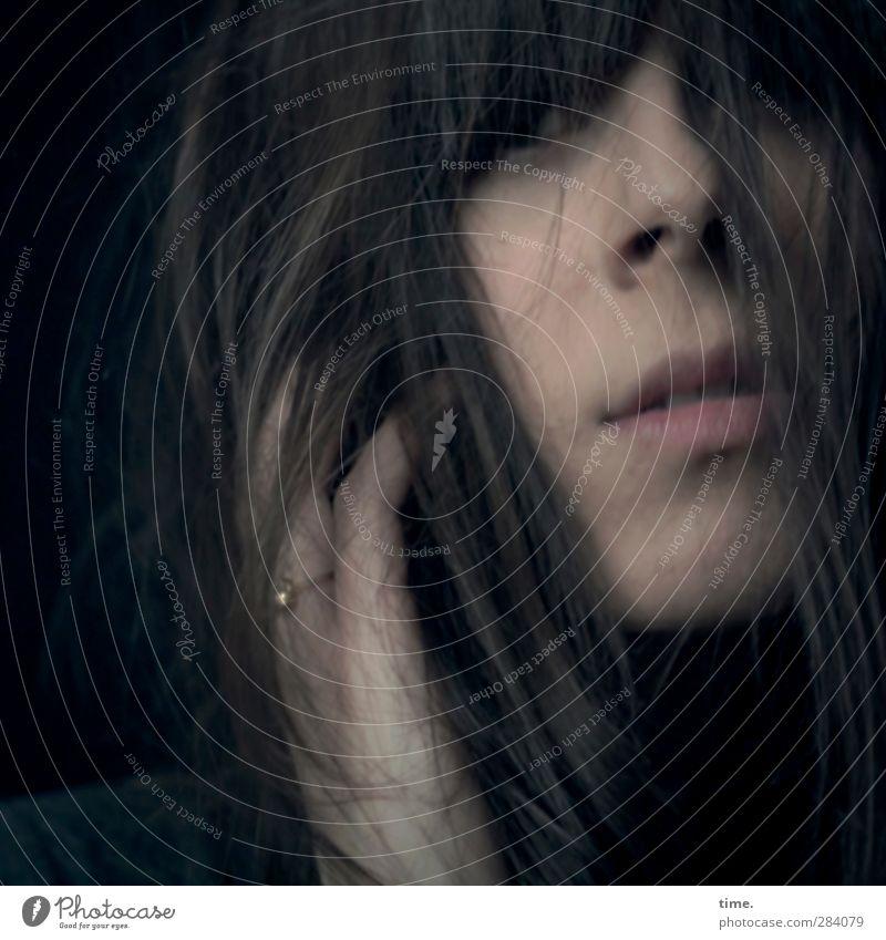 weiblich | pearl Mensch Frau Jugendliche schön Erwachsene dunkel Wärme feminin Erotik Haare & Frisuren Kopf 18-30 Jahre elegant Mund Nase Finger