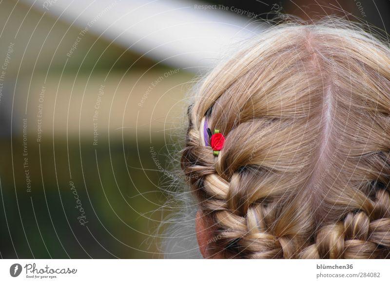 weiblich | festlich Stil schön Mensch feminin Mädchen Jugendliche Kopf Haare & Frisuren 1 Accessoire blond langhaarig Zopf gehorsam Tourismus Tradition