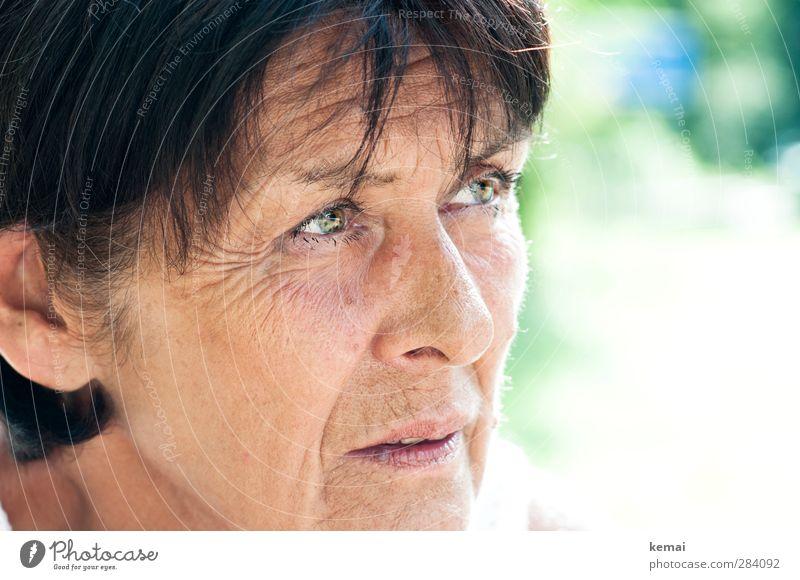 Weiblich   Mama ist die Beste Mensch Frau schön ruhig Erwachsene Gesicht Auge Leben Senior feminin nachdenklich Mund 60 und älter Nase Mutter Weiblicher Senior