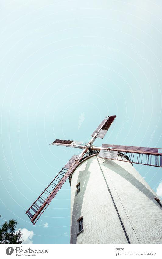 Gemahlin Landwirtschaft Forstwirtschaft Handwerk Umwelt Natur Landschaft Himmel Wetter Schönes Wetter Bauwerk Gebäude Sehenswürdigkeit alt hell historisch blau