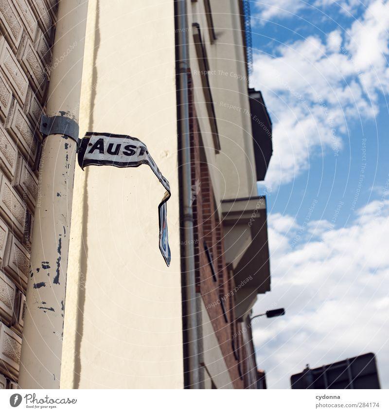 Ausweglos Stadt Haus Mauer Wand Schriftzeichen Schilder & Markierungen Hinweisschild Warnschild Einsamkeit Ende Enttäuschung Frustration Hilfsbereitschaft