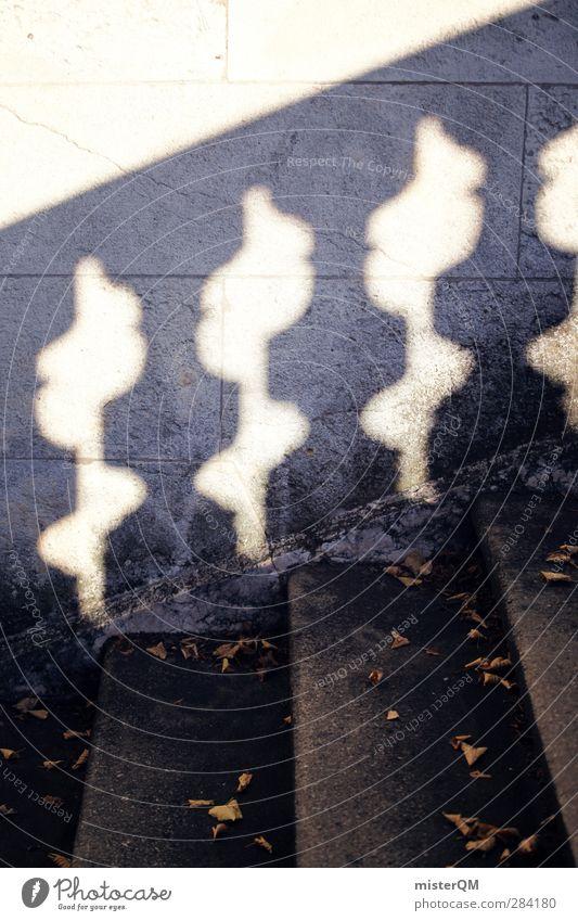 Schattenspiel. Kunst ästhetisch Barock Barockgarten Treppengeländer Brückengeländer Geländer Symmetrie aufwärts abwärts Kultur Kulturdenkmal Stufenordnung
