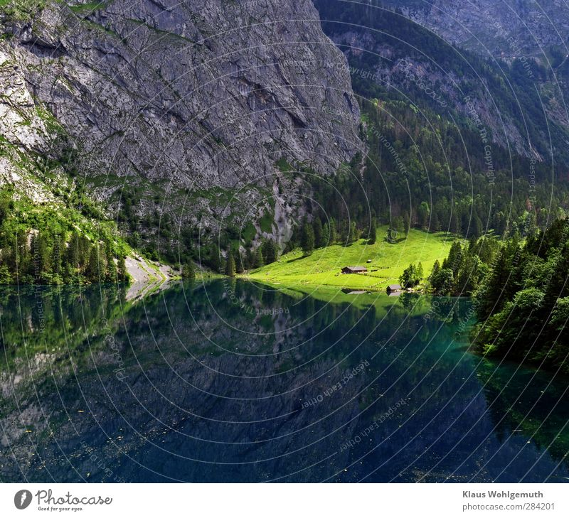 Fernreiseziel Natur blau Wasser Baum Erholung Landschaft ruhig Ferne Wald Berge u. Gebirge Umwelt gelb Frühling Gras grau See