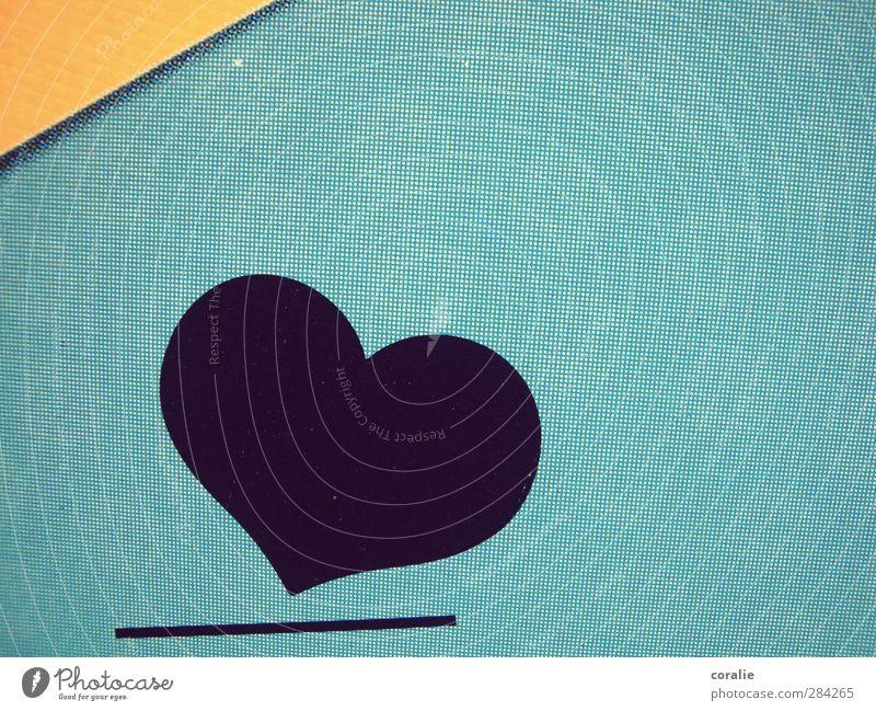 Herz|lich Stadt Mauer Wand Fassade Linie eckig rund blau gelb schwarz Kunst Liebe Information Symbole & Metaphern Strukturen & Formen abstrakt einfach