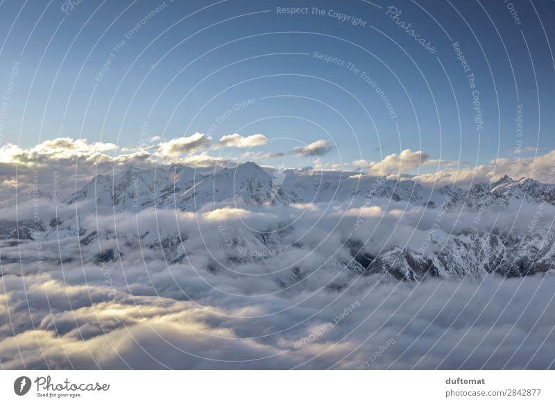 Wolkenbank Erholung Winter Schnee Winterurlaub Berge u. Gebirge wandern Skifahren Skier Snowboard Umwelt Natur Landschaft Urelemente Horizont Felsen Alpen