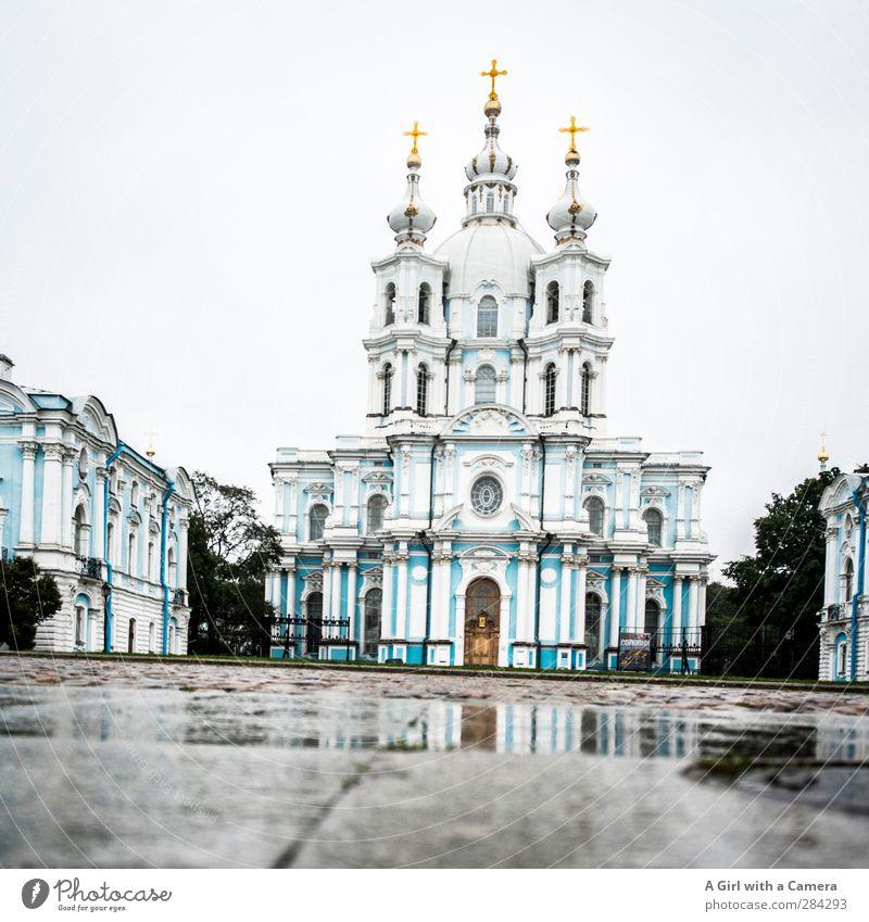 kaltes Land St. Petersburg Russland Hafenstadt Stadtzentrum Altstadt Dom Bauwerk Gebäude Architektur Sehenswürdigkeit außergewöhnlich Ferne historisch hoch