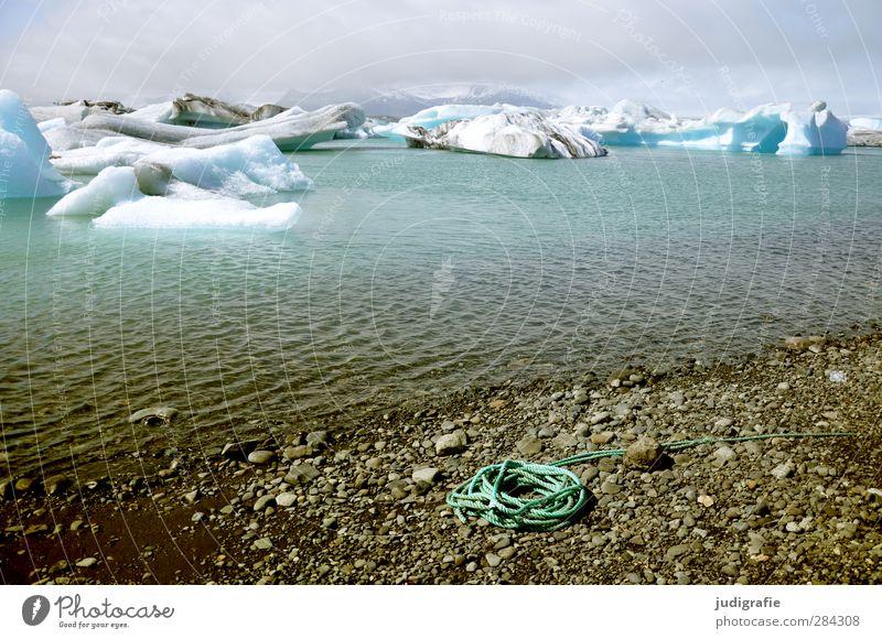 Island Umwelt Natur Landschaft Urelemente Wasser Klima Klimawandel Eis Frost Gletscher Küste Seeufer Gletschersee Jökulsárlón außergewöhnlich fantastisch