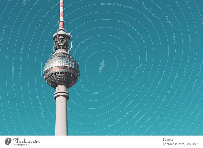Ferien & Urlaub & Reisen blau Berlin Deutschland Tourismus Ausflug Wahrzeichen Städtereise Sightseeing Berliner Fernsehturm