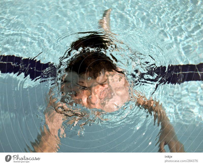 ...BLUBB Mensch Kind blau Ferien & Urlaub & Reisen Wasser Sommer Freude Gesicht Leben Junge Luft Schwimmen & Baden Körper Kindheit Freizeit & Hobby nass