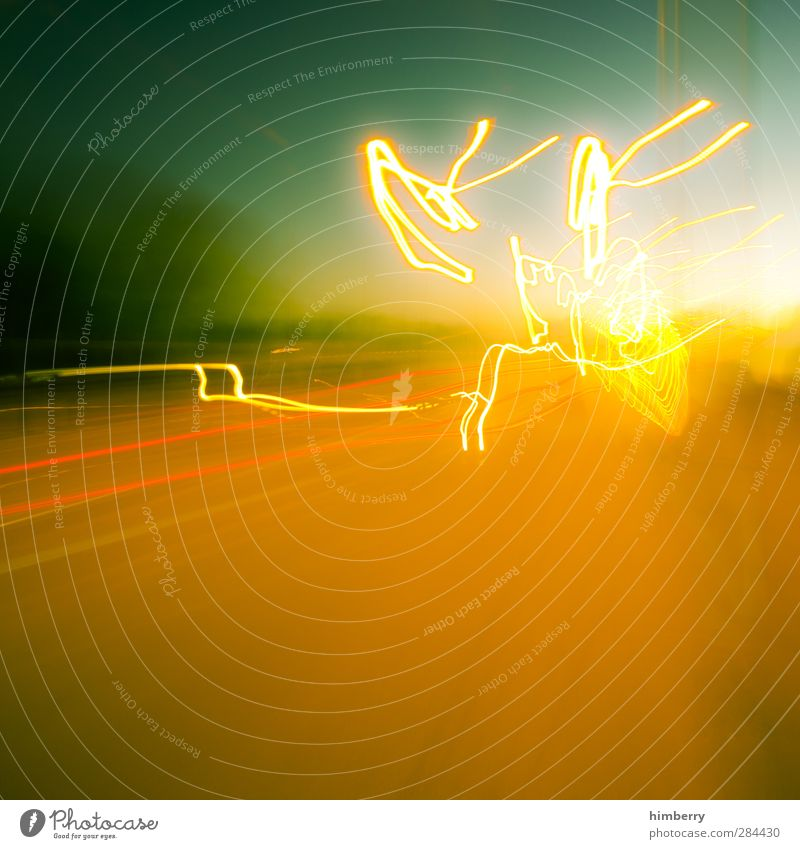 blitzkrieg Stadt grün gelb Straße Bewegung Wege & Pfade Kunst orange wild Verkehr Kraft gold verrückt Energie Kreativität Geschwindigkeit