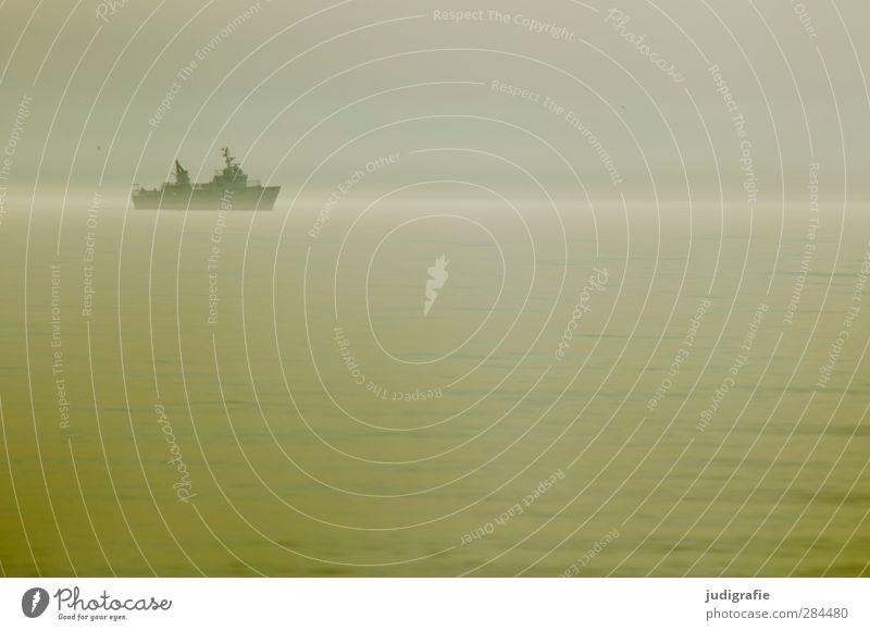 Unterwegs Umwelt Natur Wasser Himmel Nebel Ostsee Schifffahrt Passagierschiff Wasserfahrzeug Ferien & Urlaub & Reisen Wärme Stimmung Farbfoto Gedeckte Farben