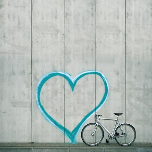 my bike Lifestyle elegant Stil Design Freizeit & Hobby Sport Fahrradfahren Herz Liebe Sympathie Freundschaft Zusammensein Verliebtheit Treue schön