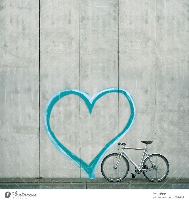 my bike schön Liebe Graffiti Sport Stil Freundschaft Zusammensein Fahrrad Freizeit & Hobby Herz elegant Design Beton Lifestyle Fahrradfahren Verliebtheit