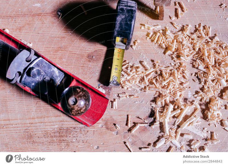 Holzbearbeitungswerkzeuge und -zuschnitte Rolle Schreinerei Flugzeug Schneiden Werkzeug messen Arbeit & Erwerbstätigkeit Linie Gerät Konstruktion Haus Industrie