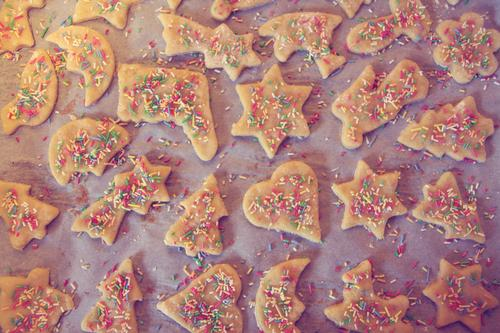 Weihnachtsbäckerei. Weihnachten & Advent Stimmung Lebensmittel Freizeit & Hobby Kindheit warten frisch Herz Ernährung süß Stern (Symbol) Kochen & Garen & Backen